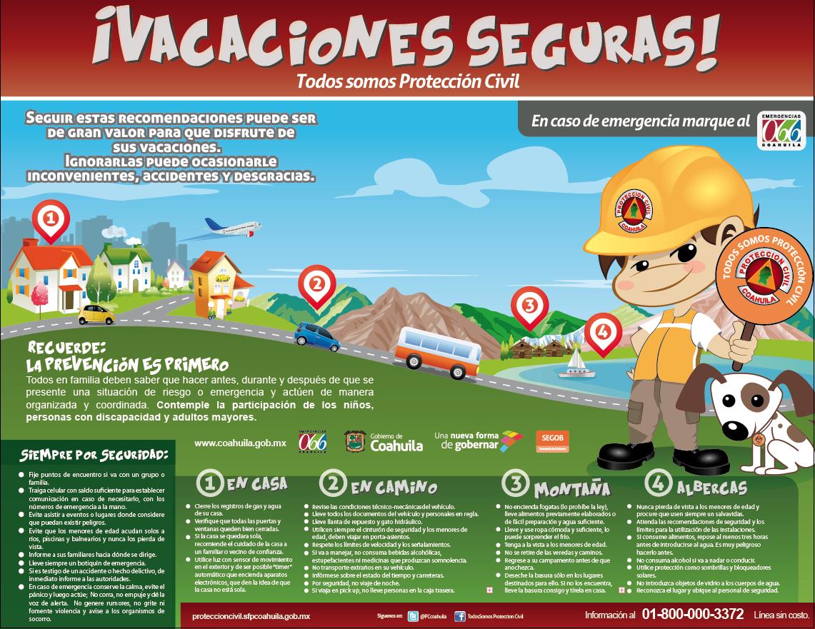 Protecci n civil entidadesfederativas - Que hacer en vacaciones ...